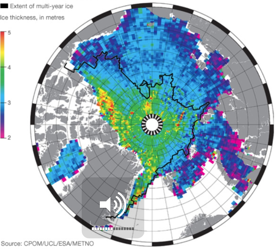 Validation of the simulated sea ice thickness against Cryosat observations